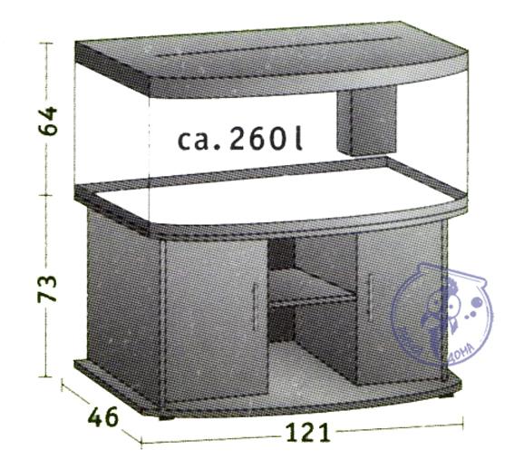 Аквариум Ювель Вижн260 размеры